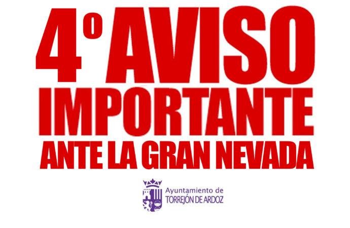 El Ayuntamiento de Torrejón pide a sus vecinos que eviten salir de casa y conducir ante el riesgo de caídas y colisiones