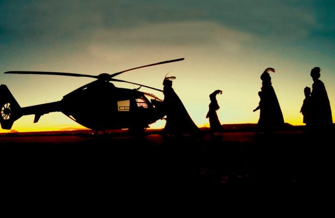 Los Reyes Magos sobrevolarán hoy al medio día Torrejón de Ardoz en helicóptero
