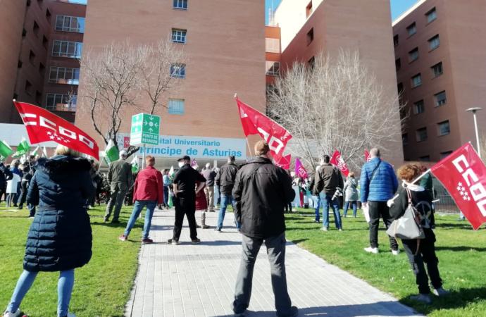 Concentración a las puertas del Hospital de Alcalá en defensa de la Sanidad Pública