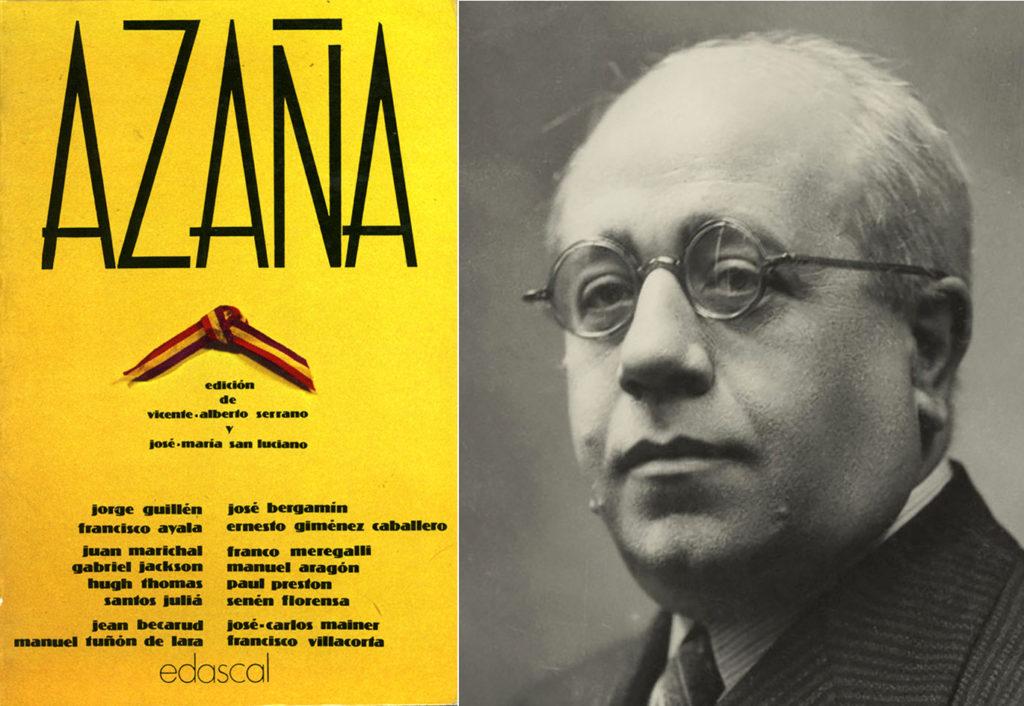 "Cubierta de la primera edición de ""Azaña"" (Ed. Edascal, 1980)."