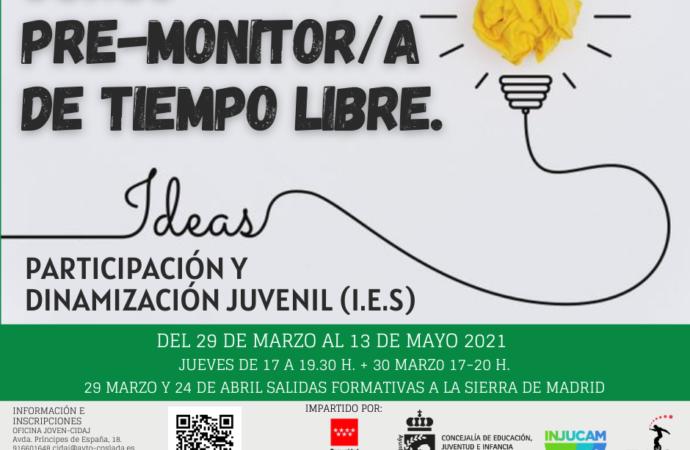 Abierto el plazo de inscripción para el Curso de Monitor de Tiempo Libre en Coslada