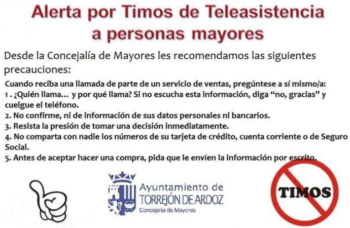 Alerta en Torrejón por un timo relacionado con el servicio de Teleasistencia a mayores