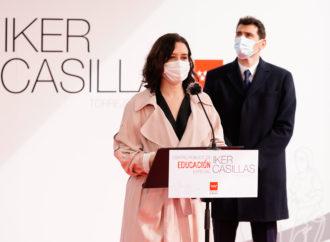 Iker Casillas y Díaz Ayuso presentan en Torrejón el Centro de Educación Especial que llevará el nombre del ex futbolista