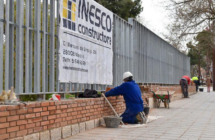 Nuevo vallado para el futuro campus de la Universidad de Alcalá en Guadalajara