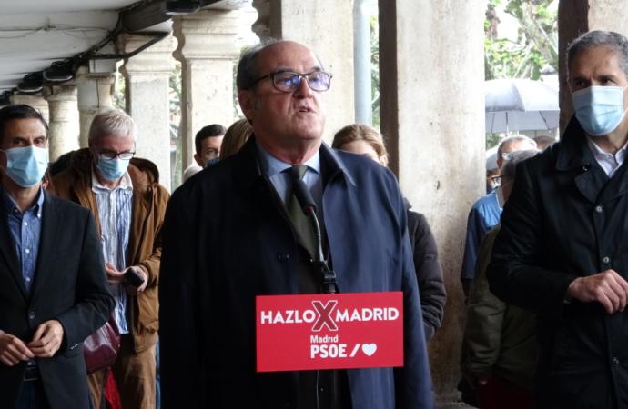 4M / Elecciones: Ángel Gabilondo (PSOE) ratifica el giro hacia Pablo Iglesias en su visita a Alcalá