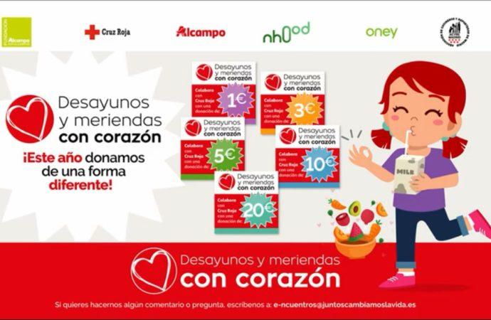 La campaña «Desayunos y Meriendas #ConCorazón» de Cruz Roja llega este fin de semana al Corredor del Henares