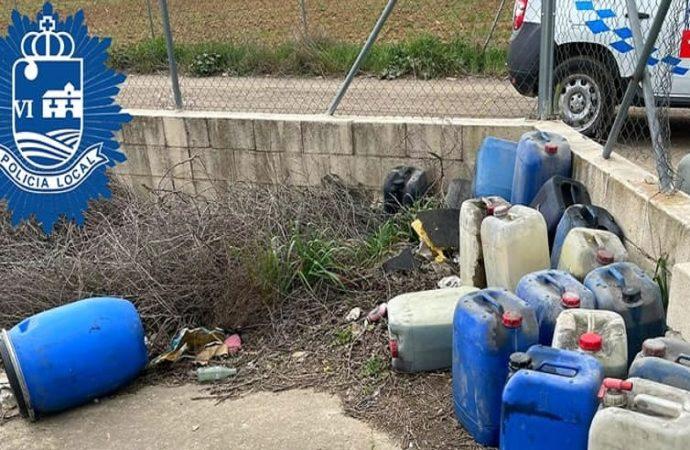 Localizado en San Fernando un vertido de residuos ilegales y peligrosos