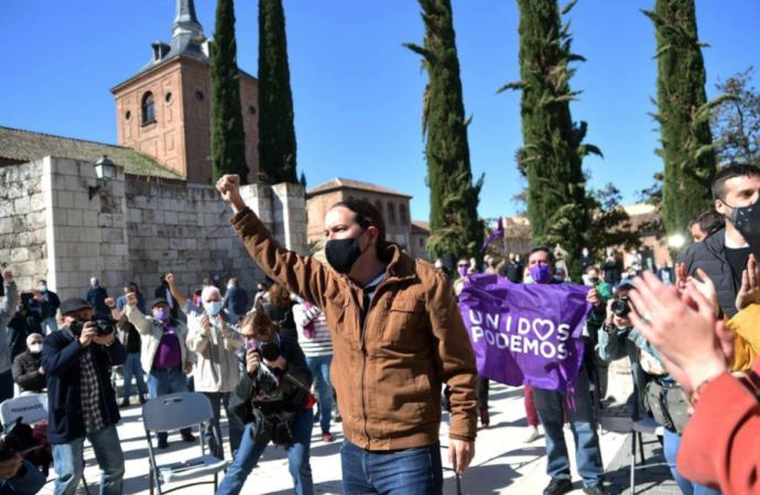 4M Elecciones: Pablo Iglesias y Alberto Garzón, en Alcalá de Henares