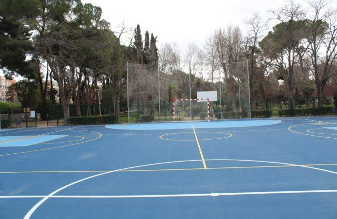 Renovada la histórica Pista Florida del Parque O'Donnell en Alcalá de Henares