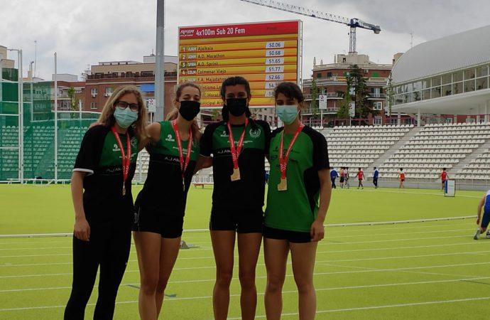 Atletismo: medallas en relevos y lanzamientos para los atletas del Ajalkalá con registros históricos