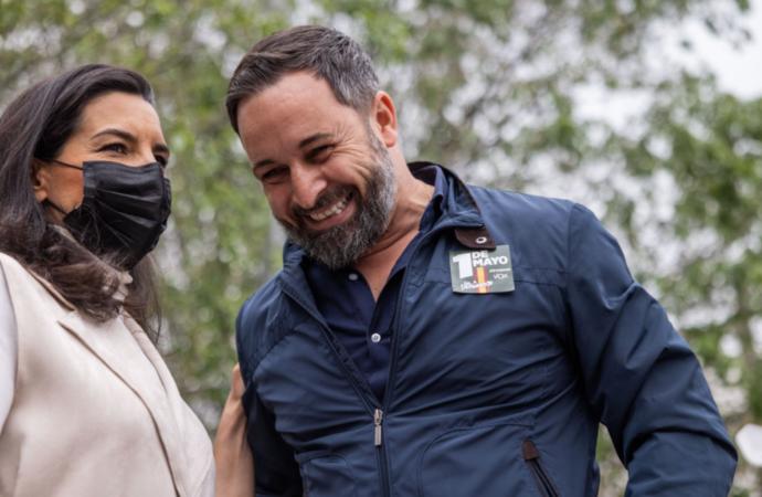 4M Elecciones / Santiago Abascal y Rocío Monasterio piden el voto para VOX en Alcalá de Henares