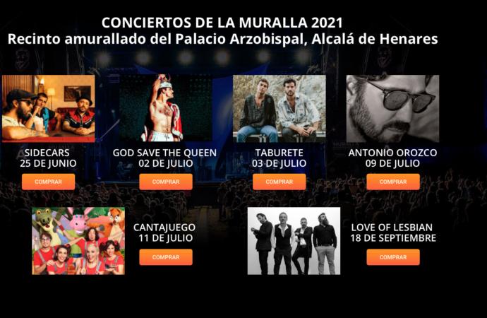 Ya a la venta las entradas para «Los Conciertos de la Muralla» en Alcalá: Taburete, Love of Lesbian, Antonio Orozco, Sidecars…