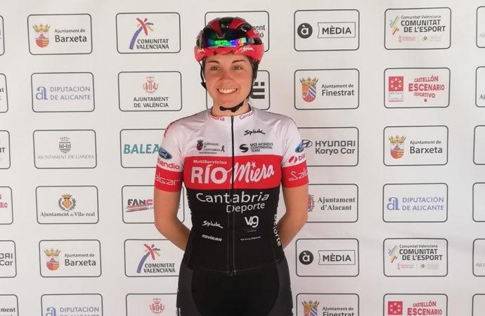 La torrejonera Ania Horcajada participa por primera vez en una vuelta ciclista profesional