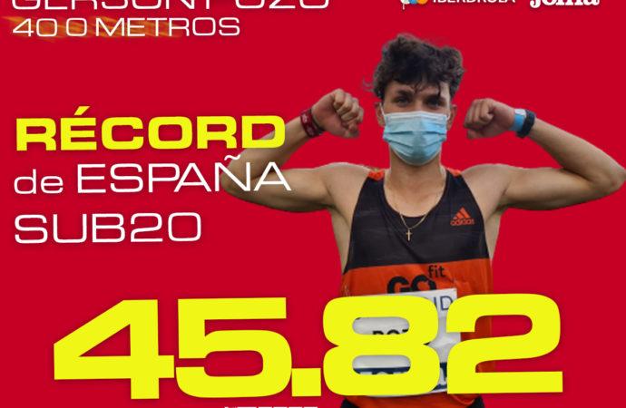 Atletismo: Gerson Pozo, del Ajalkalá, nuevo récord de España Sub 20 de 400ml