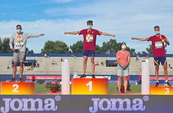 El atleta de Torrejón, Sánchez-Valladares, medalla de bronce en 800 metros en el Campeonato de España absoluto al aire libre