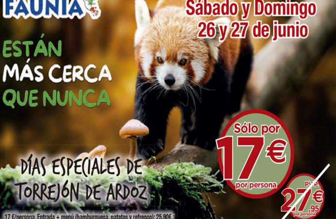 Este fin de semana vuelven los Días Especiales de Torrejón con descuentos en Faunia