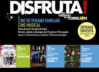 Cine de verano gratuito en Torrejón este viernes 30, sábado 31 y domingo 1 de agosto