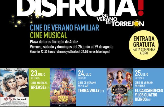 Cine de verano gratuito en Torrejón para este viernes 23, sábado 24 y domingo 25