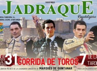 Toros en Jadraque el 31 de julio: Sánchez Vara, Andrés Palacios y Fernando Tendero en el cartel