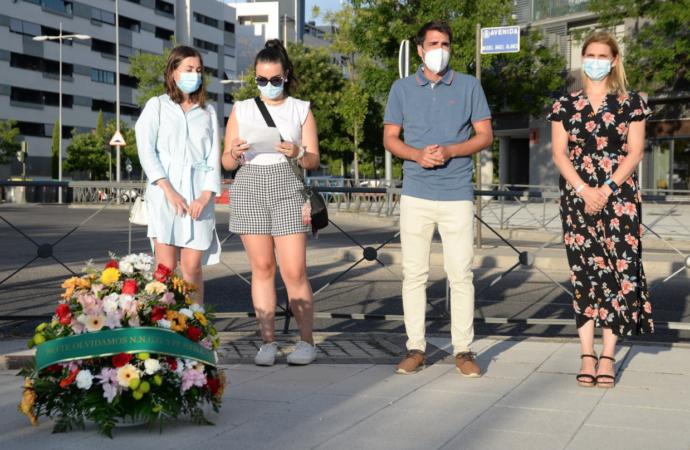 Nuevas Generaciones de Alcalá rinde homenaje a Miguel Ángel Blanco en el 24º aniversario de su asesinato