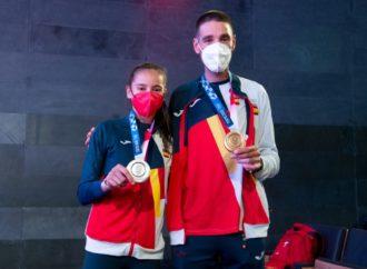 Adriana Cerezo y David Valero, recibimiento del COE por sus medallas olímpicas