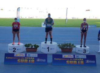 La atleta de Torrejón de Ardoz, Judith Vaquero, medalla de bronce en el Campeonato de España sub-18 en lanzamiento de disco al aire libre