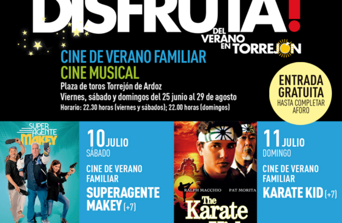 """Cine de Verano Familiar en Torrejón este sábado 10 y el domingo 11 de julio con """"Superagente Makey"""" y """"Karate Kid"""""""