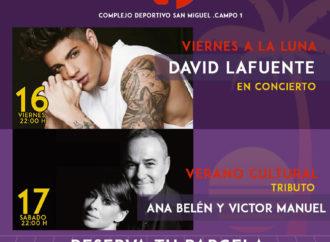 David Lafuente y un tributo a Ana Belén y Víctor Manuel, el fin de semana en el San Miguel de Azuqueca