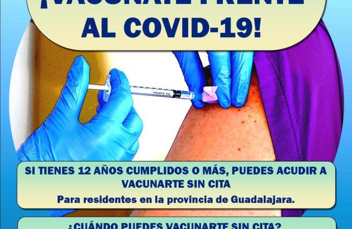 Ya es posible vacunarse en Guadalajara sin cita previa en el Polideportivo San José de Guadalajara