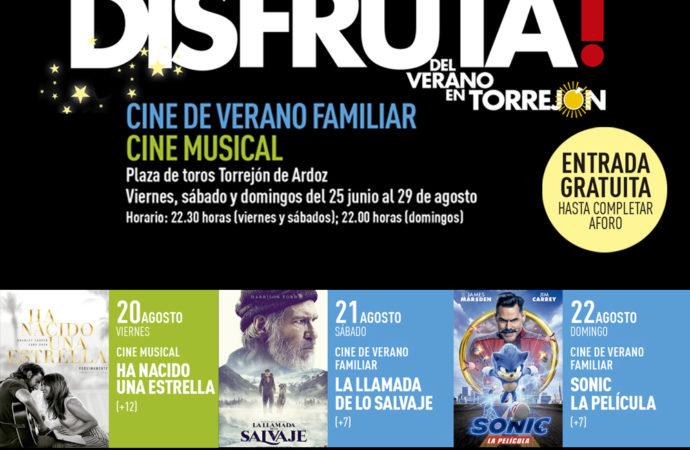 Cine de verano gratuito en Torrejón del 20 al 22 de agosto: programación
