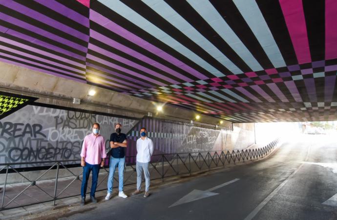 Diseño 360 grados y 1.300 metros cuadrados: así es el nuevo y espectacular mural del Paso Enmedio en Torrejón de Ardoz