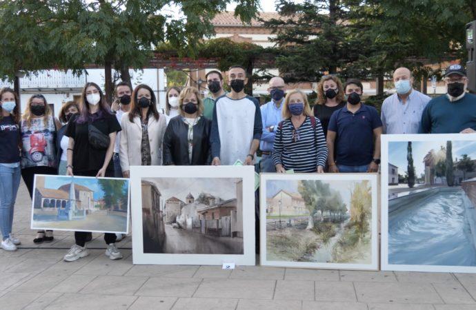 El Certamen de Pintura al Aire Libre volvió a las calles de Alovera