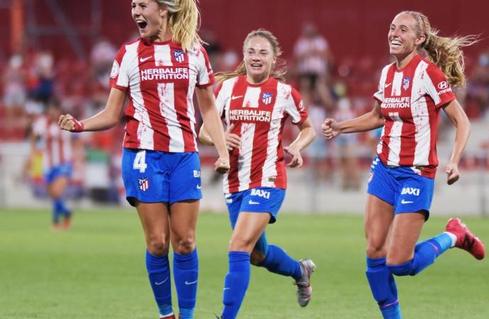 El Atléti femenino arrolla por 5-0 al Rayo Vallecano en su estreno liguero en el Wanda Alcalá