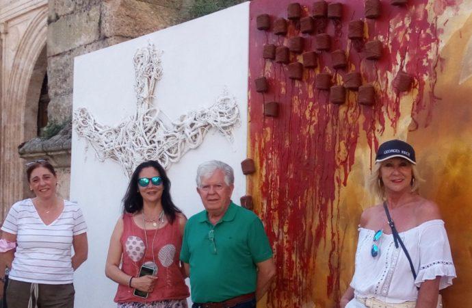 Continúa la exposición al aire libre de Antonio Grediaga 'Kieff' en Tendilla, Guadalajara