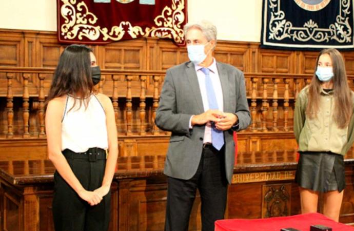 Las alcalaínas olímpicas Alba García y Adriana Cerezo, homenajeadas por la Universidad de Alcalá
