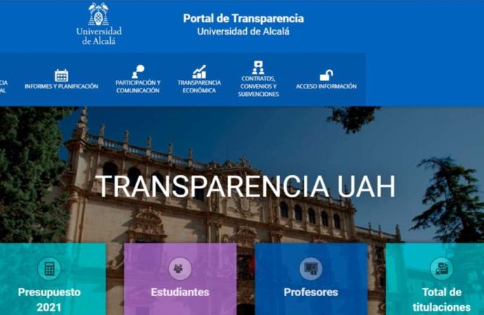 Nuevo Portal de Transparencia de la Universidad de Alcalá