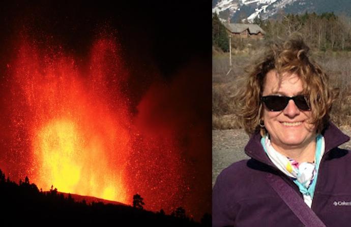 La geóloga de la UAH, Teresa Bardají, analiza las características y posibles consecuencias del volcán de La Palma